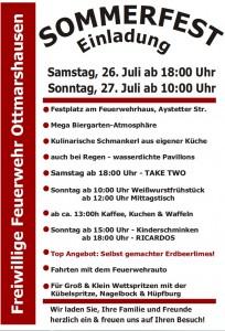 Einladung Sommerfest 2014
